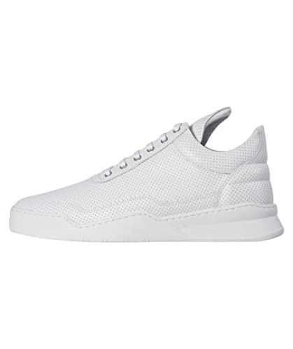 194ab31c3fea4b Filling Pieces Herren Sneaker Nappa Perforated Medium Top Weiss (10 ...