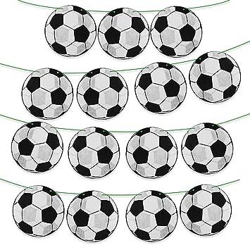 MEJOSER Guirnalda Fútbol con 15 Balones 10metros Banderines ...