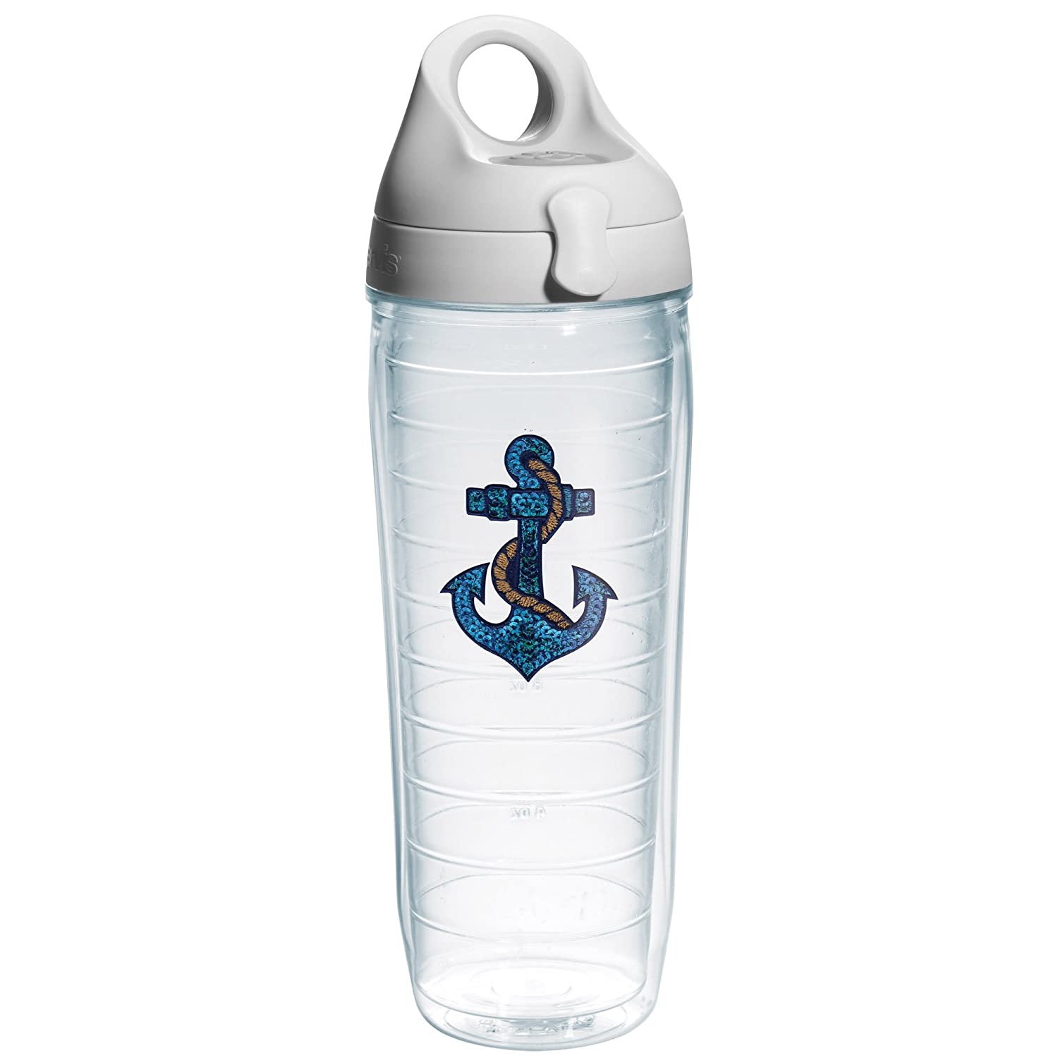 Tervis Sequins Anchor Emblem Water Bottle, 24-Ounce, On The Water by Tervis