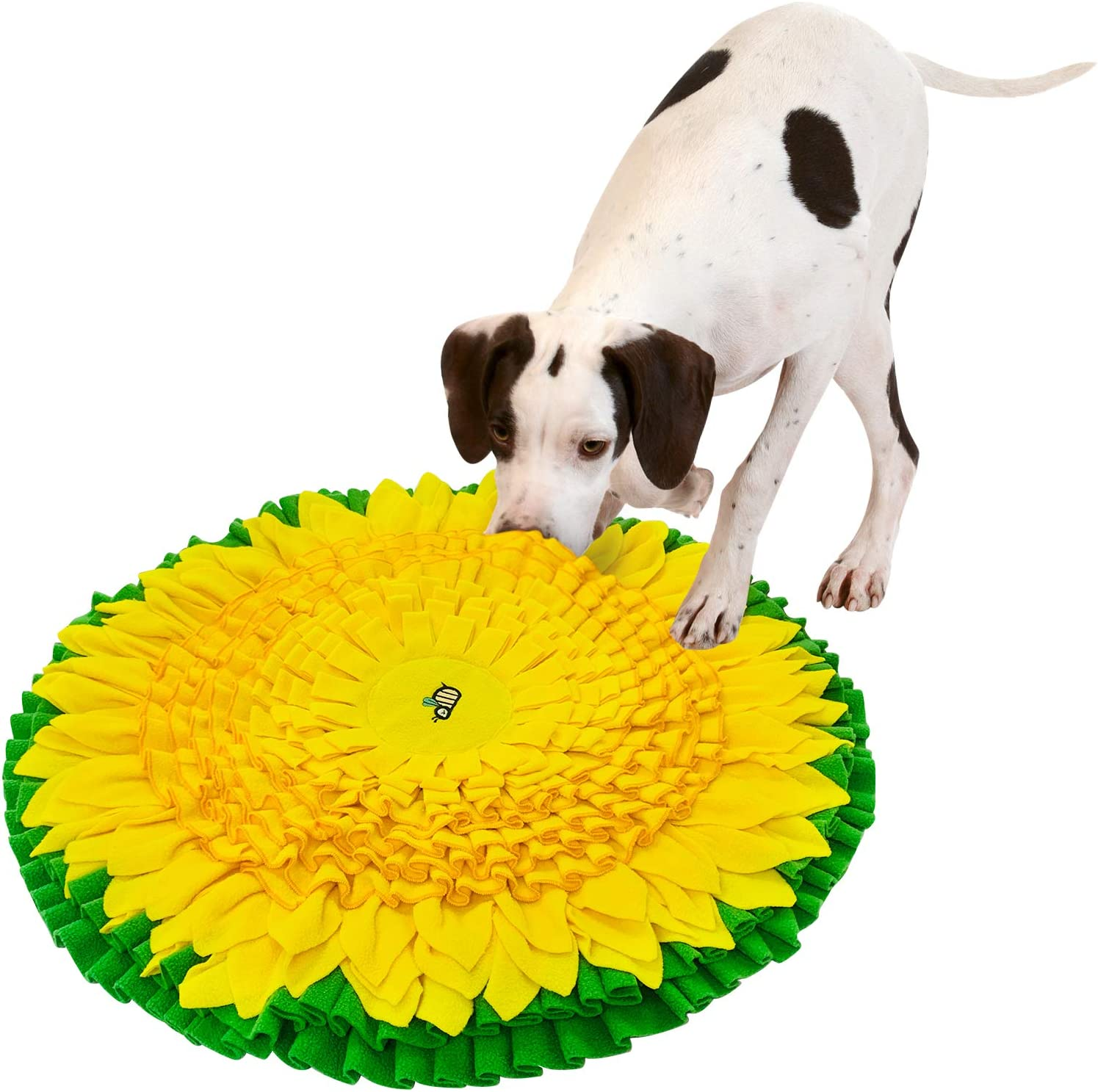 PetFun Dog Snuffle Mat for Feeding, Hunting, Foraging, Dogs Nosework Training Smell Toys-Treat Interactive Puzzle Dispenser, Slow Feeder Mat & Feed Game- Machine Washable (24 Inches)