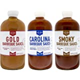 Lillie's Q - Barbeque Sauce Variety Pack, Gourmet BBQ Sauce Set, Made with Gluten-Free Ingredients, Includes Carolina BBQ Sau