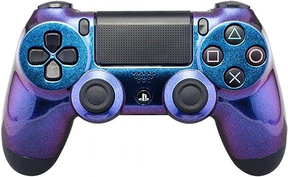 eXtremeRate Carcasa Mando PS4 Funda Delantera Protectora de la Placa Frontal Cubierta reemplazable para Mando del Playstation 4 PS4 Original Camaleónica de Azul a Violeta: Amazon.es: Electrónica