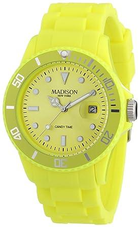 97f41014c3 Pastell Gelbe Madison New York Candy Time Unisex Armbanduhr: Amazon ...