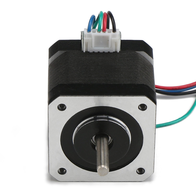 DROK® Schrittmotor Nema 17 Bipolar 40mm 2 Phase, 64ozin (0,46 N · m ...