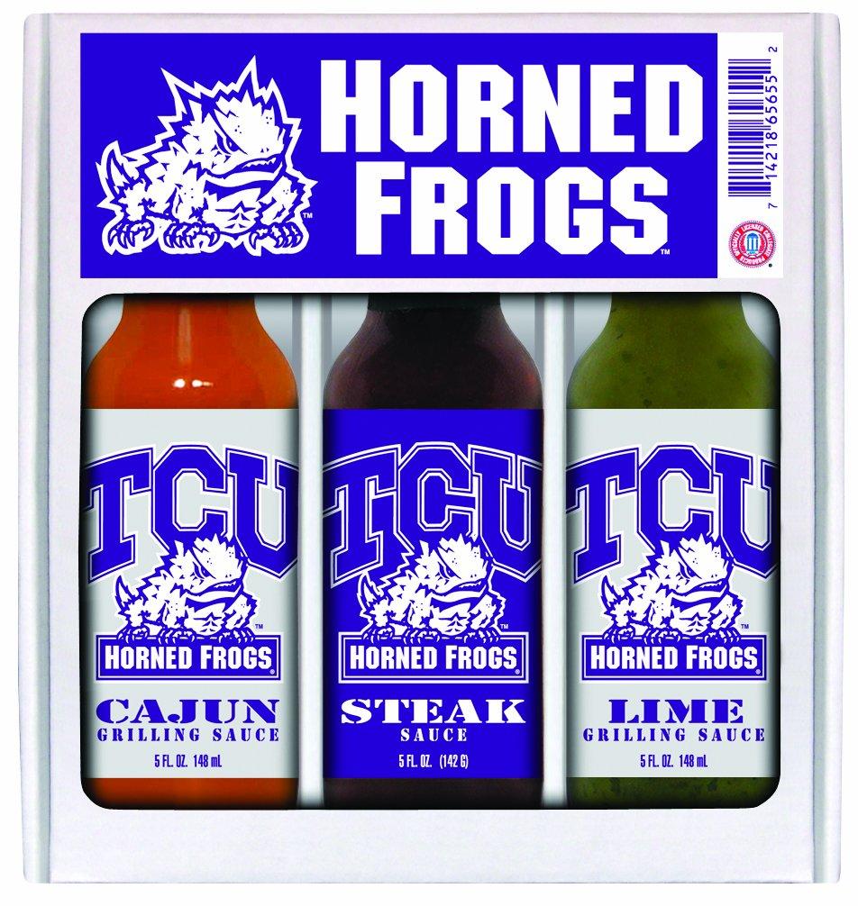 10パックTCU Horned Frogs Mini Grillingセット3 x 5 oz B005FFAWJY