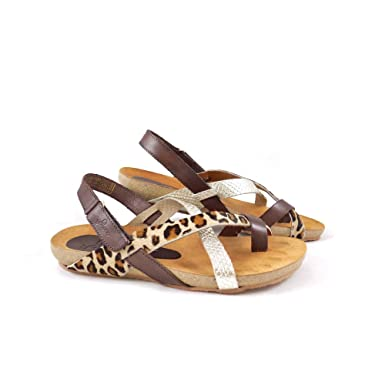06f99a9fc Women s Yokono Ibiza 718 Toe Post Sandal with Back Strap EU 37   UK 4 Multi  Leopard  Amazon.co.uk  Shoes   Bags