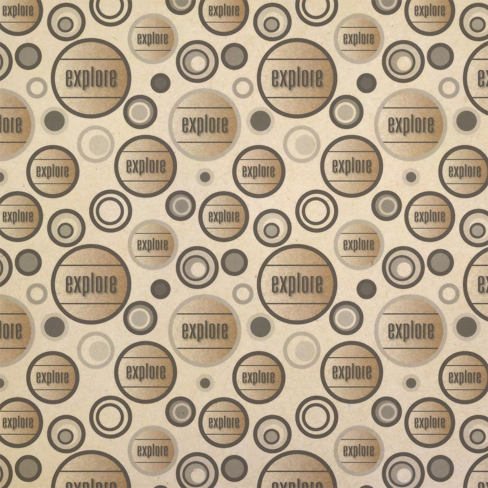Explore and Travel the World Kraft Present Gift Wrap Wrapping Paper