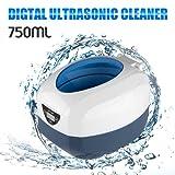 Digitale Display Ultraschall Reiniger Reinigungsgerät Edelstahltank Cleaner mit Korb für zuhause 750ML