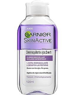 Garnier Skin Active Desmaquillante de Ojos 2 en 1 Desmaquillador suave Bifásico enriquecido con Arginina -