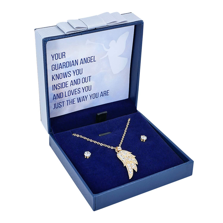 Cadeau sentimental Bijoux ange ange Sincerely For You Pendentif ailes dange gardien dor/é Cadeau comm/émoratif In Memory Of You