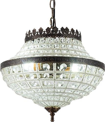 Vintage K9 Crystals Chandelier Classic Pendant Light Fixture