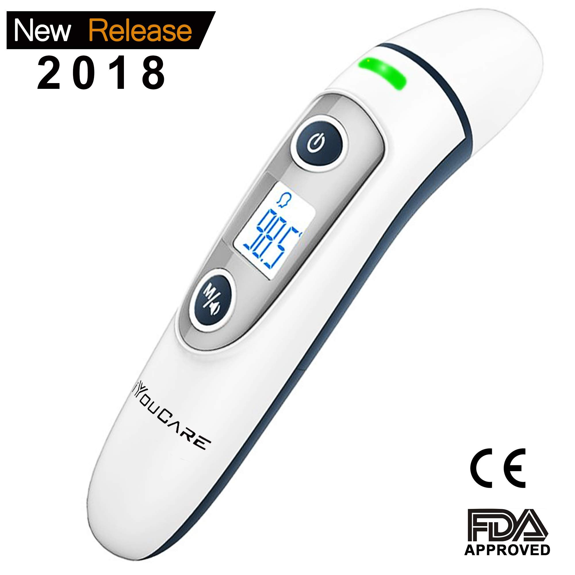 iYouCare Baby Forehead and Ear Thermometer, Digital Infrared no Contact Thermometer with FDA Test and Clinical Accuracy Suitable for Baby Kids Adults