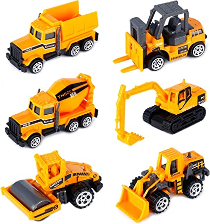 Construction Trucks for 3 Year Old Boys Mini Engineering Models Play Vehicles Cars Toys Birthday Party Supplies Stocking Stuffers for Toddlers,Pack of 5