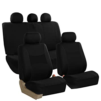 Wondrous Fh Group Fb030Black115 Full Set Seat Cover Side Airbag Compatible With Split Bench Black Unemploymentrelief Wooden Chair Designs For Living Room Unemploymentrelieforg