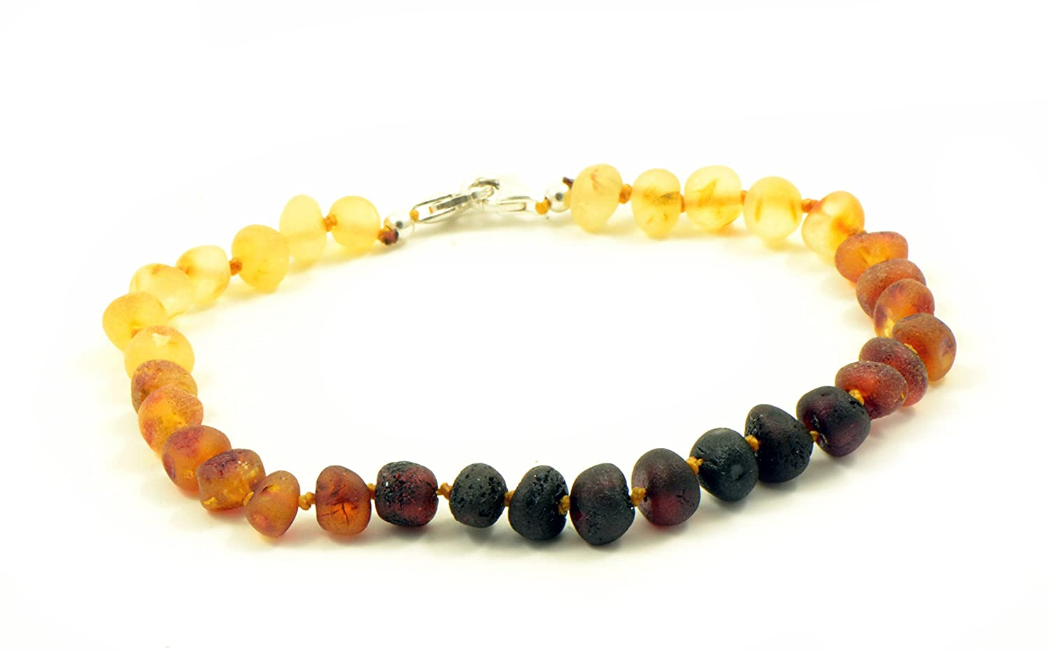 Genuine Raw Baltic Amber Adult Anklet , Adjustable 7.5~9.5inches (19-24cm)