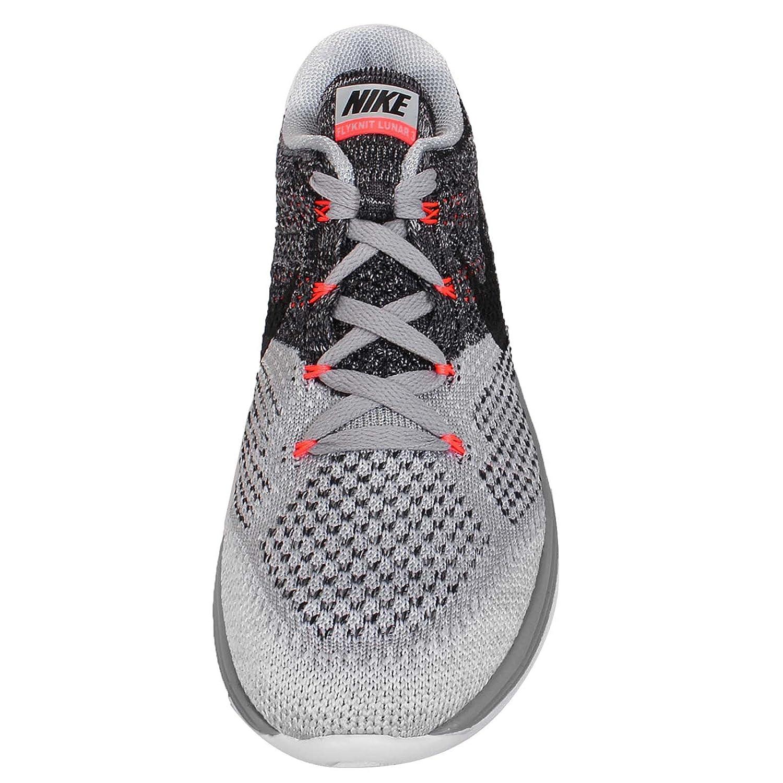 pretty nice e2e6e aa26a Amazon.com   Nike Women s Flyknit Lunar 3 Running Shoes Wolf Grey  698182-009 (7 B(M) US, Wolf Grey Black-White-HOT Lava)   Running