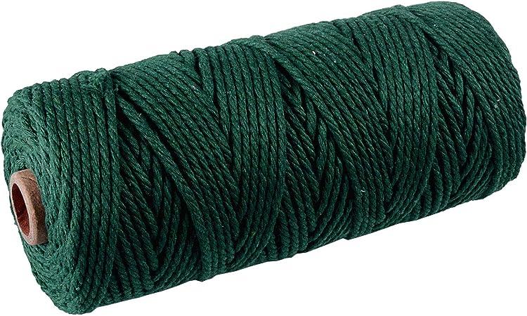 SUNTQ Cordón de macramé Algodón de poliéster trenzado de 4 hilos Cuerda de algodón suave para colgar plantas artesanales Colgar artesanías, decoración de tejer, hilo de algodón: Amazon.es: Hogar