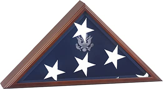 OAK AMERICAN MILITARY FLAG DISPLAY CASE FUNERAL BURIAL VETERAN FLAG DISPLAY BOX