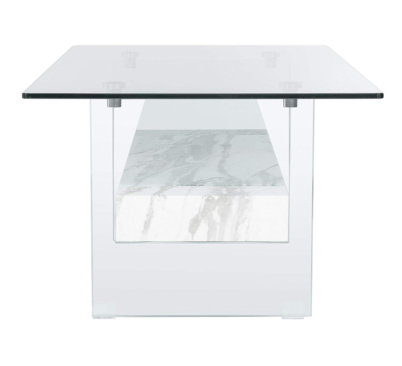 Safavieh Home Kayley Grey Oak Glass Coffee Table