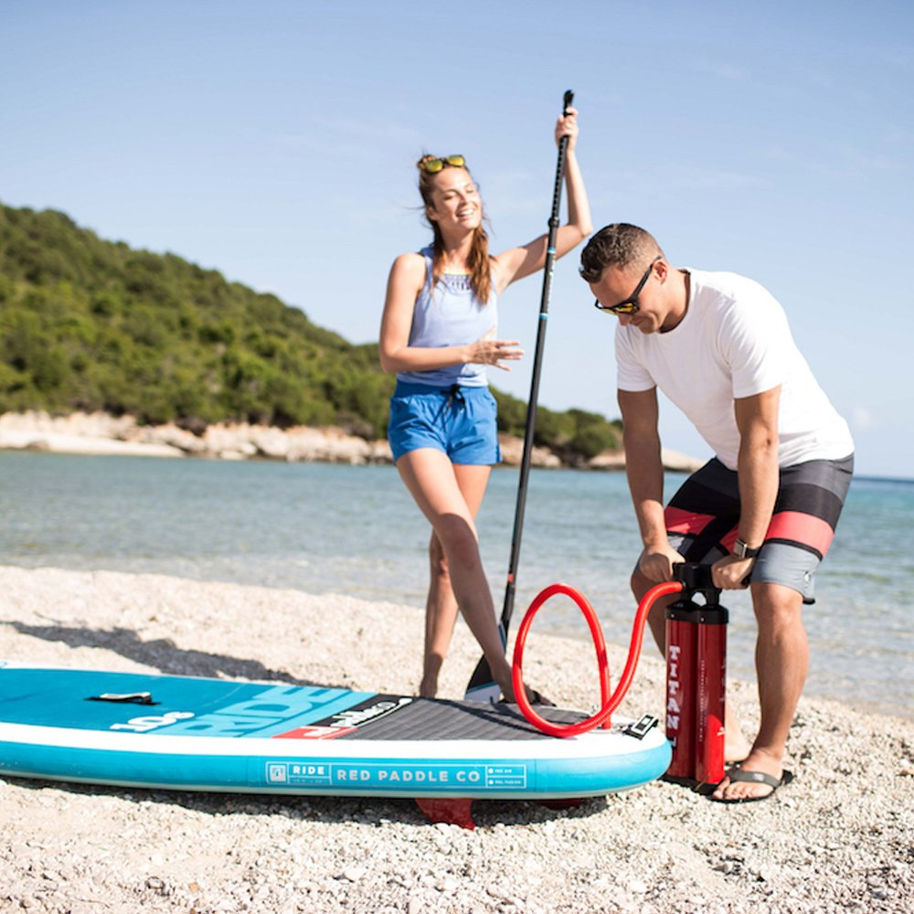 2017 Red Paddle Co 113 Sport Inflatable Stand Up Paddle Board + Bag, Pump, Paddle & LEASH: Amazon.es: Deportes y aire libre
