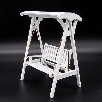 Amazon.com: Odoria 1: 12 Jardín Porche Swing silla de madera ...