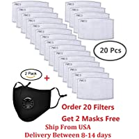 Seekay 20Pcs PM2.5 Activated Carbon Filter Breathing