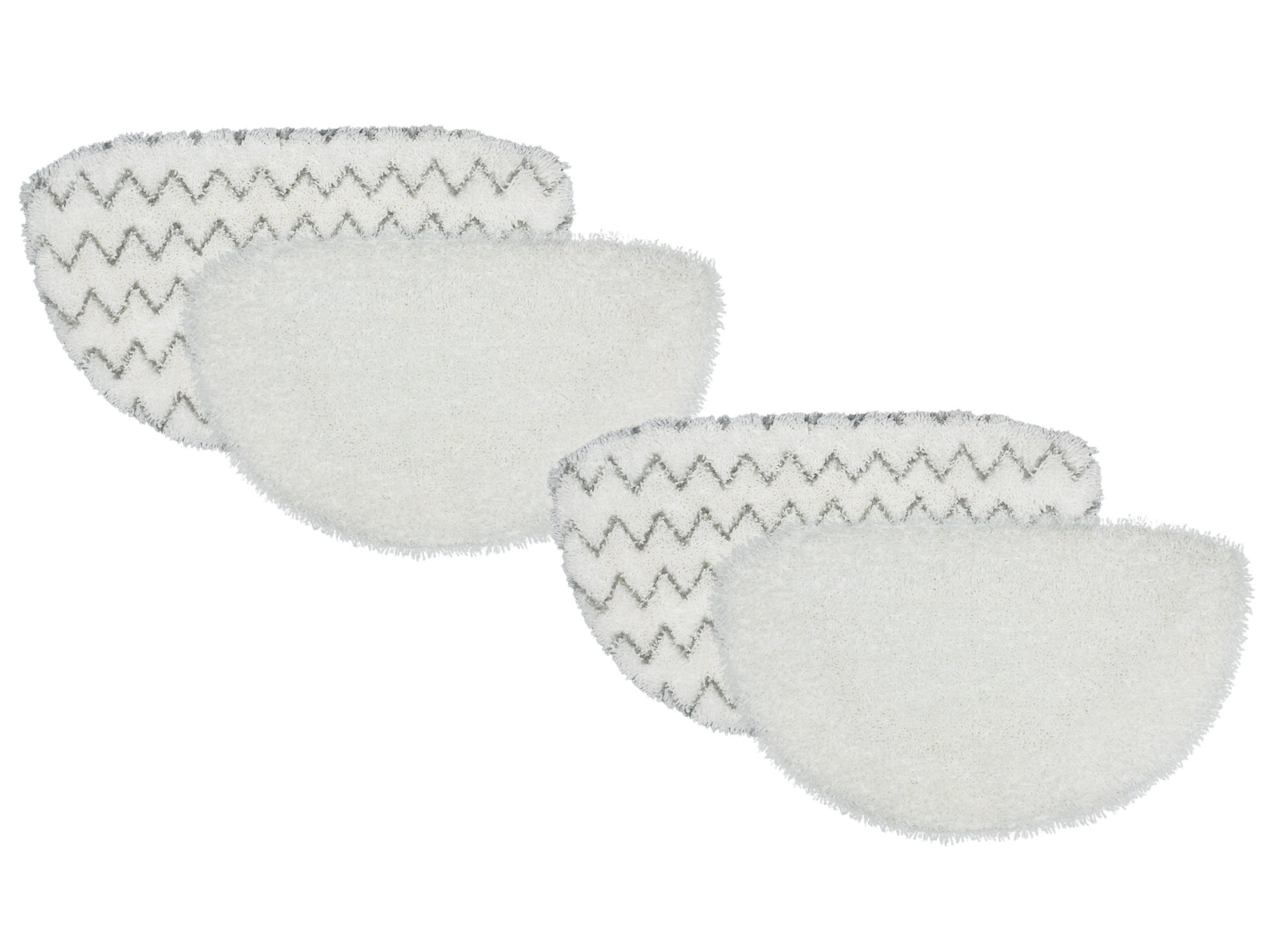Bissell PowerFresh Compatible Replacement Steam Mop Pads fits Bissell 1940 Series, 19404 Pet Steam Mop, 2075A & 2181 Slim Steam Mop, 1806 Deluxe Steam Mop, 15441 Pet Lift-Off Steam Mop, 4-Pack