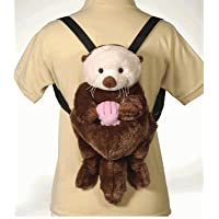 "Fiesta Toys Travel Buddy 16"" Sea Otter Plush Backpack"