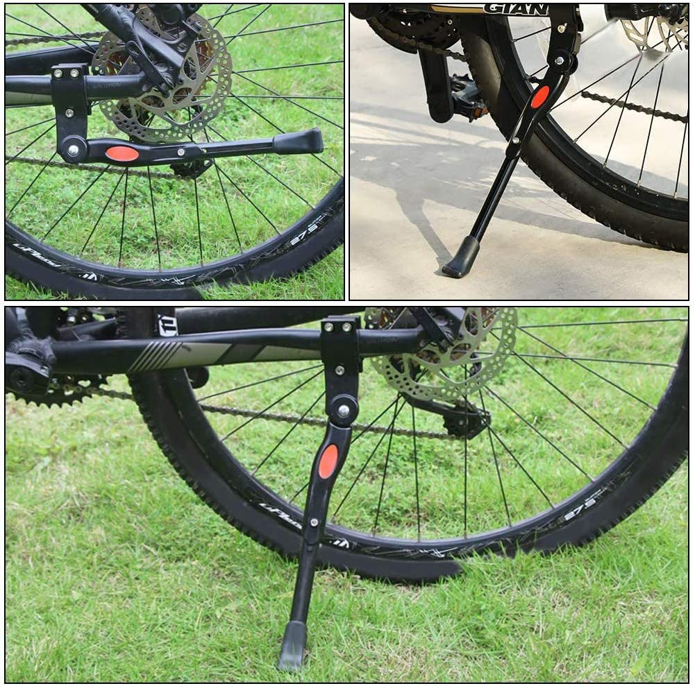 24 26 Mountain Bike Kickstands Mountain Bike with 4 mm and 5 mm Hexagon Wrench nobrands Bike Kickstand Adjustable Universal Aluminum Alloy Bicycle for 16,20