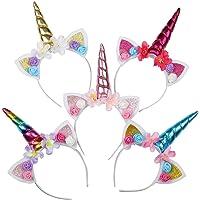 WENTS Haarband, eenhoorn, hoofdband met eenhoorn, haarsieraad, hoofdtooi, hoofdband met oren, voor Pasen, verjaardag…