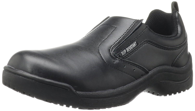 Skidbuster 5077 Women's Leather Slip Resistant Slip-On B002YU7NAE 5 B(M) US|Black