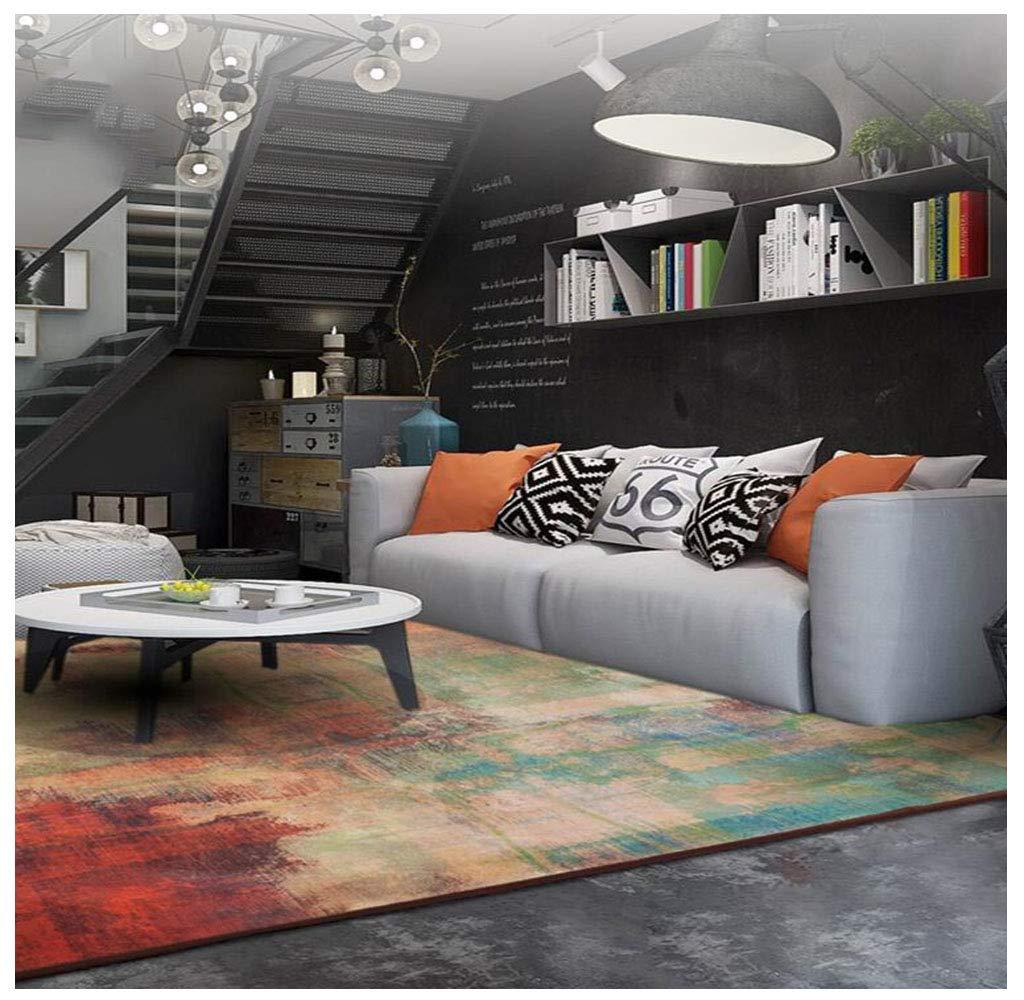 カーペットリビングルームホームフロアマットファッションブレンド矩形抽象的な格子ラグベッドルームベッドサイドカーペット (サイズ さいず : 200x300cm) 200x300cm  B07KRXK1LH