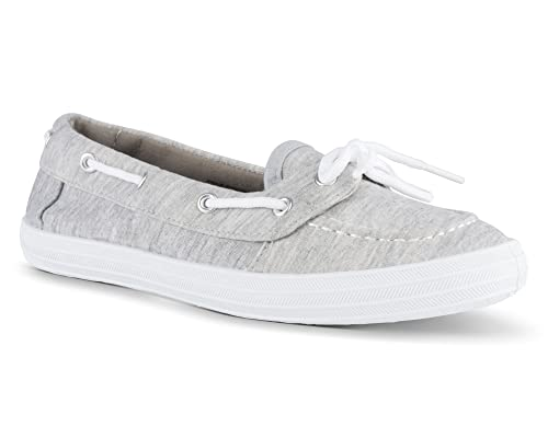 Twisted Women's Canvas Boat Shoe Blue/White sz 8 NEW
