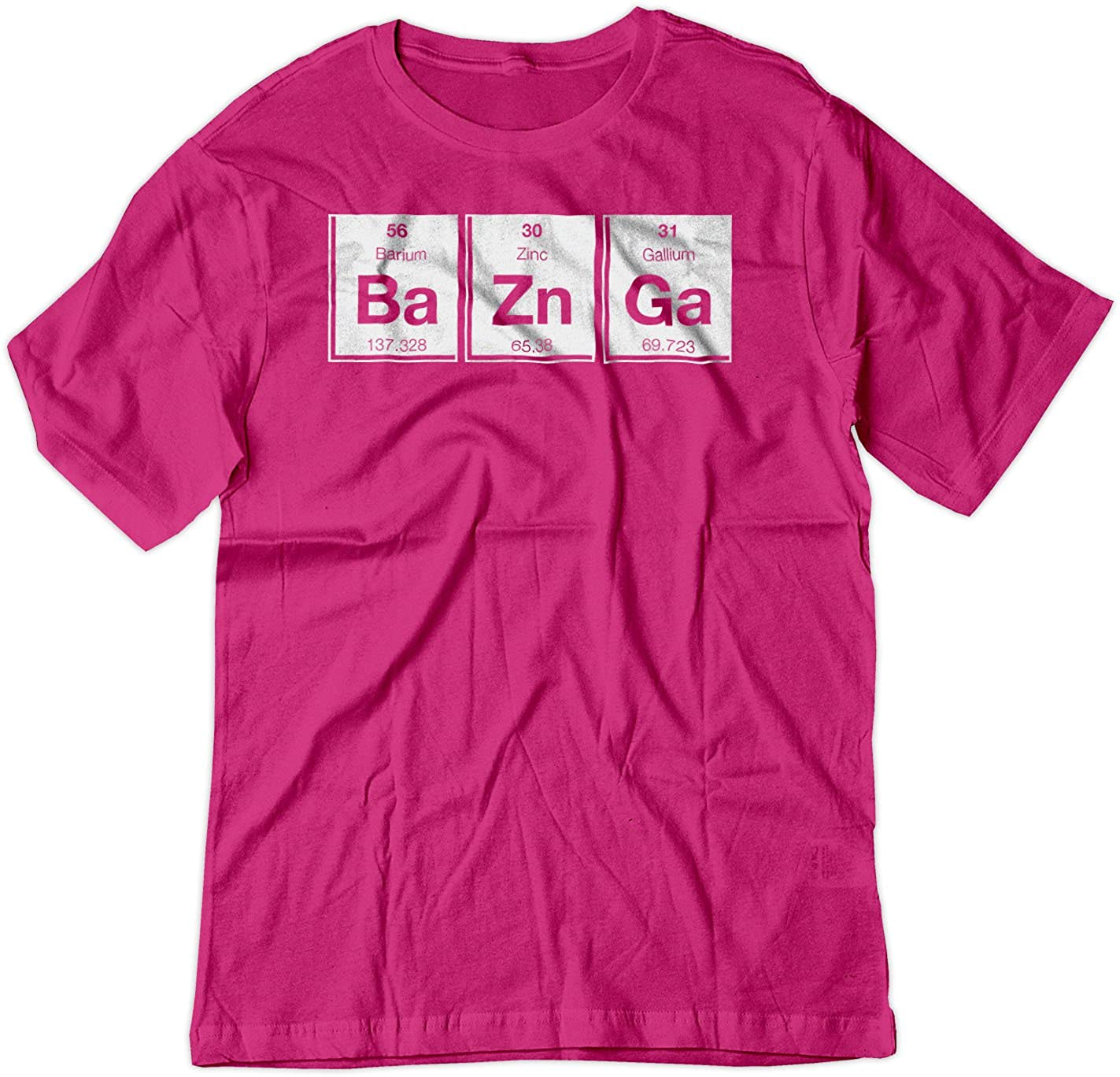 BSW Men's Bazinga Periodic Table Big Bang Theory Sheldon Cooper Shirt 1408-1R