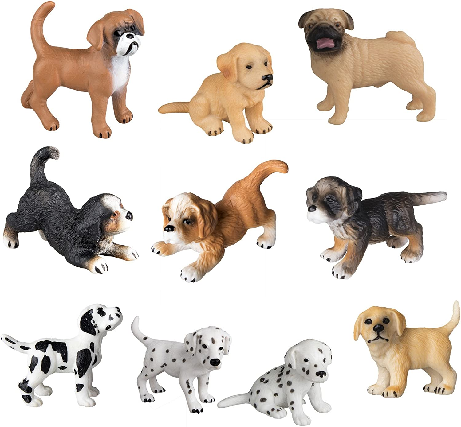 Set Of Dog Stuffed Animals, Amazon Com Toymany 10pcs Dog Figurines Playset Realistic Detailed Plastic Puppy Figures Hand Painted Emulational Dogs Animals Toy Set Cake Toppers Christmas Birthday Gift For Kids Toddlers Toys Games