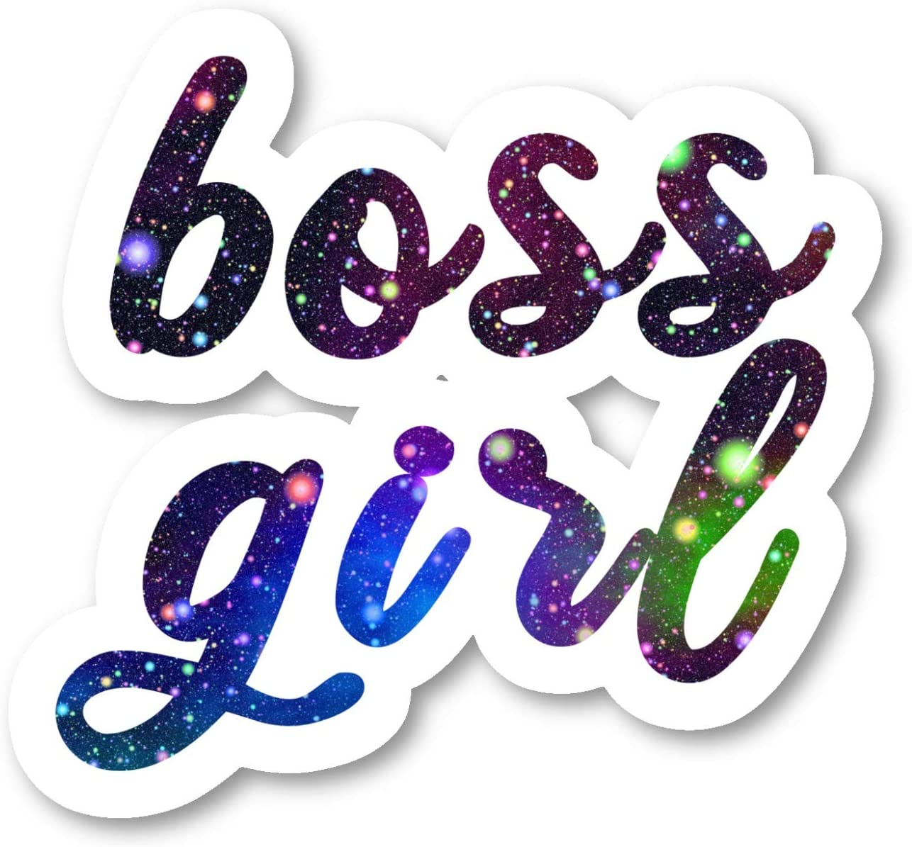 Boss Girl Sticker Inspirational Quotes Galaxy Stickers - Laptop Stickers - 2.5 Inches Vinyl Decal - Laptop, Phone, Tablet Vinyl Decal Sticker S211126