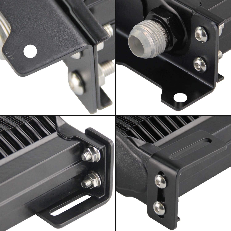 Aluminum AN10 Trust Engine Oil cooler 15Row, Blue Mounting Bracket Kit