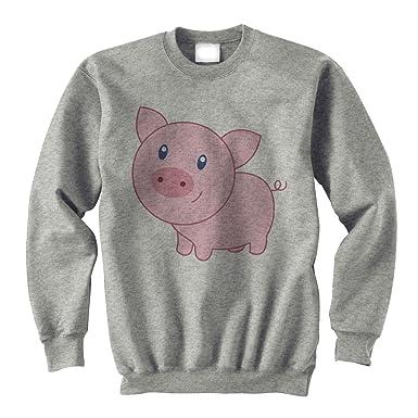 Pig Animal Farm Hog Blue Eye XXL Unisex Sweater
