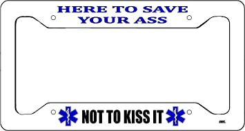 Rogue River Tactical EMT EMS Star of Life Black License Plate Novelty Auto Car Tag Vanity Gift for Paramedic Ambulance