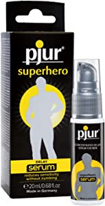 pjur superhero DELAY serum - Gel retardante para hombres - reduce la sensibilidad en el pene, sin insensibilizar (20ml)