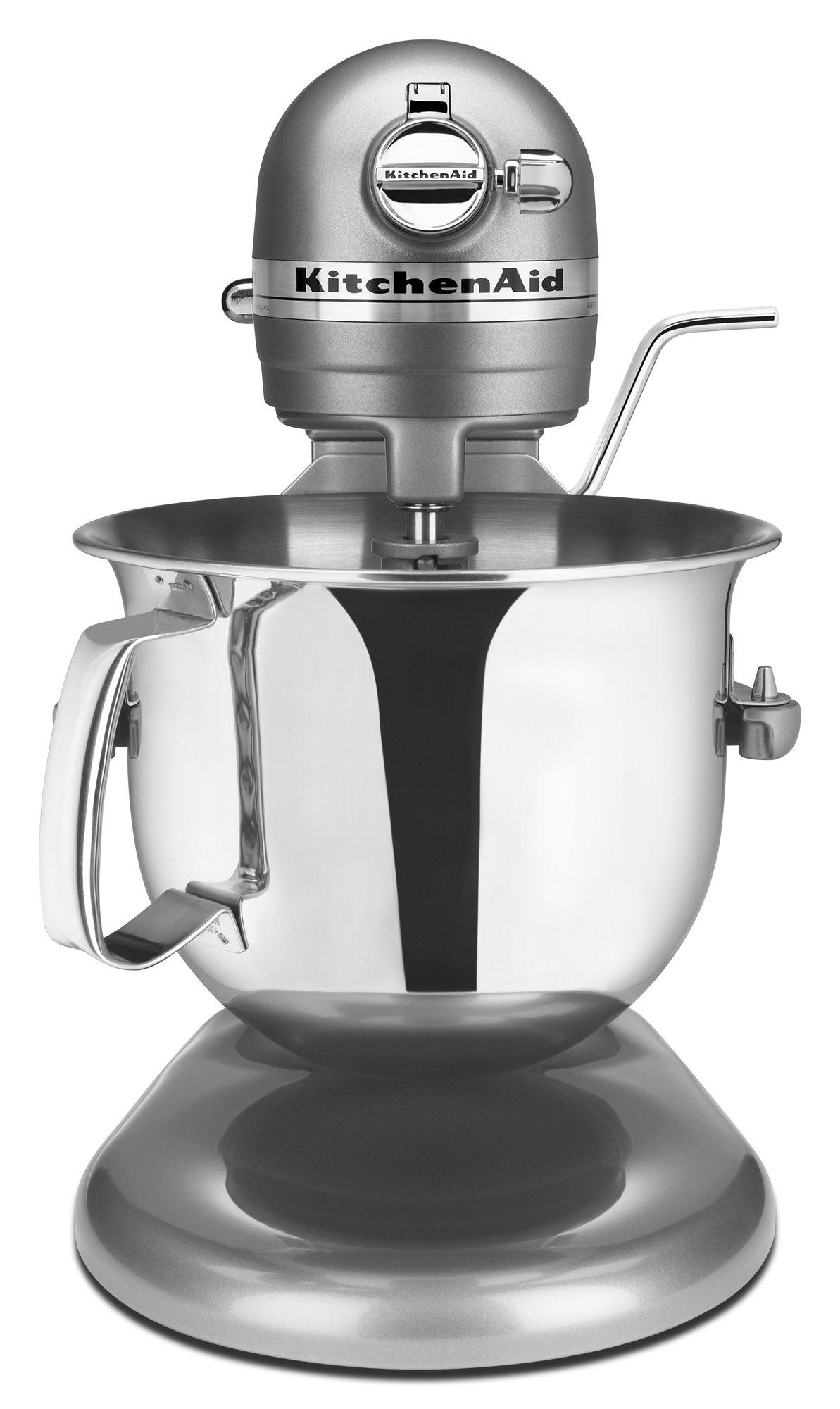 KitchenAid Professional 6000 HD KSM6573CCU Stand Mixer, 6 Quart, Contour Silver