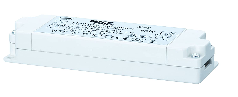 Elektroniktrafo max. 20-80W, 230/12V Weiß Nice Price 3650