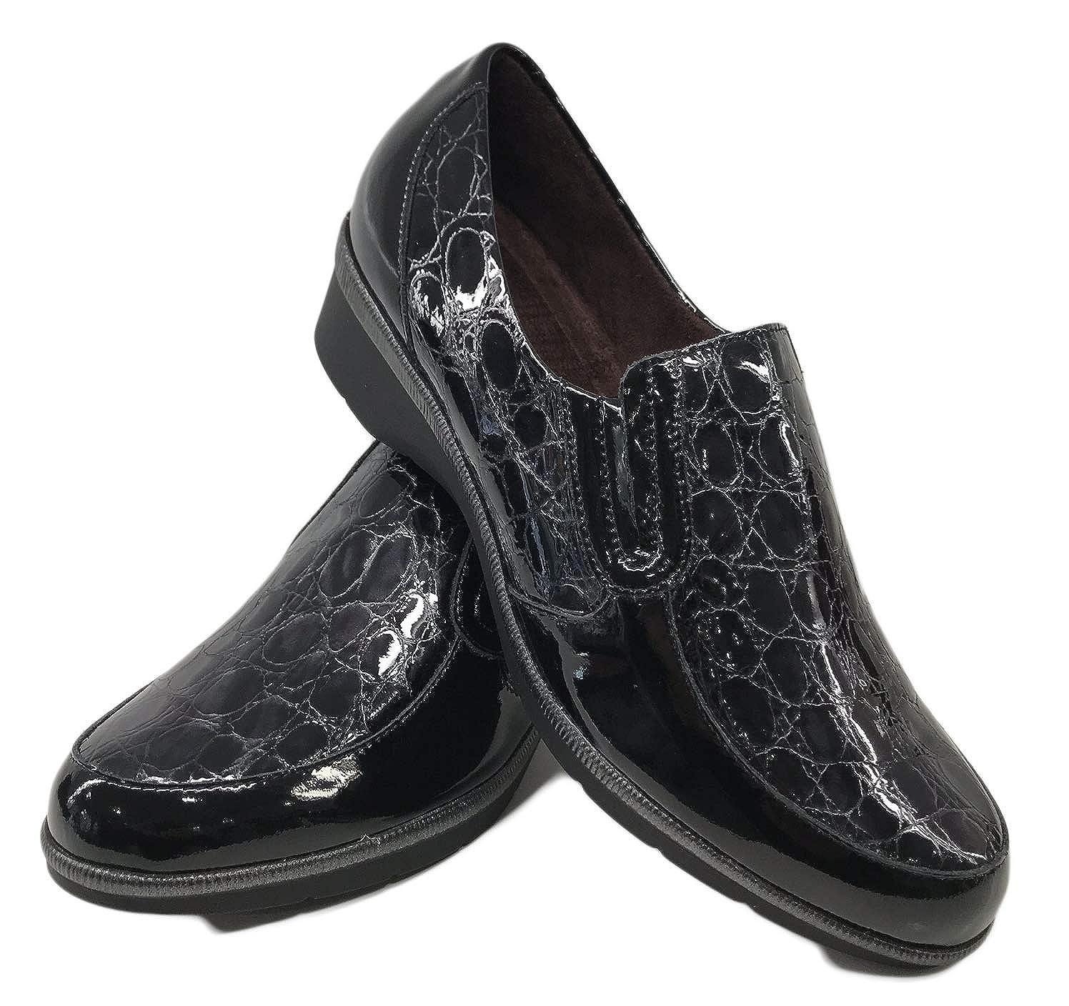8d638752b54 Zapato Pitillos 5210 Mocasin Combinado Charol