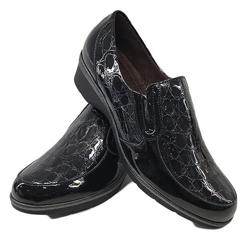 Zapato Pitillos 5210 Mocasin Combinado Charol: Amazon.es: Zapatos y complementos