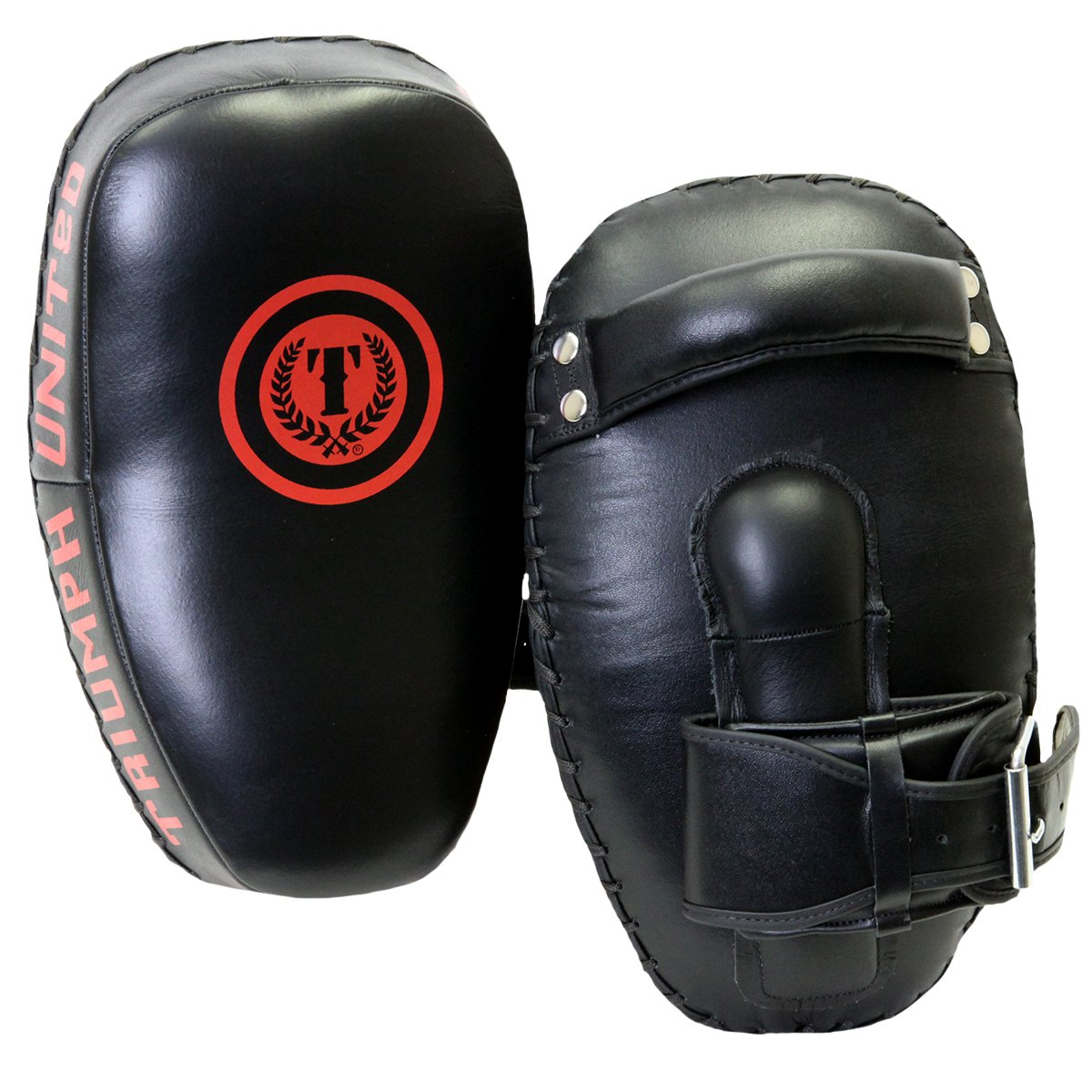 Triumph United Curved Leather Muay Thai Pad, Black, One Size 83009