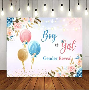 Girl or Boy Gender Reveal Backdrop Thick Re-Usable Material Large,72x40 Inches Gender Reveal Banner Boy Or Girl For Gender Reveal Party Decorations Blue and Pink Baby Gender Party Supplies
