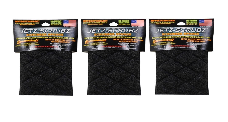 The Original Magic Jetz Scrubz J27 Scrubber Sponge Rectangle, Pack of 3