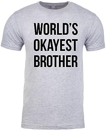 ebda2f75e NuffSaid Premium Worlds Okayest Brother Shirt Funny T Shirts Big Brother  Sister Gift Idea | Amazon.com