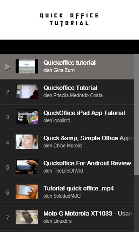 Quickoffice tutorials apps on google play.