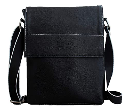 85dfd60fbee66 JaisBoy PU Leather Bag - Cross-Body Sling Bag Side Bag for Mens Womens Girls  (25 x 29 x 5 CM) Black  Amazon.in  Shoes   Handbags